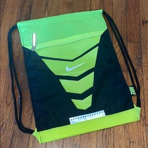 Nike sling bag book bag neon yellow black